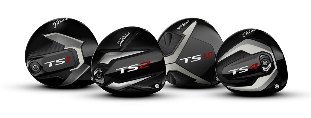 Photo of Titleist TS family of drivers - TS1, TS2, TS3 and TS4, all designed to bring more speed to your golf game