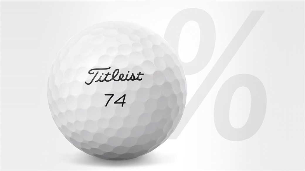 Graphic showing that 74% of players on the PGA TOUR have teed up a Titleist golf ball in 2019.